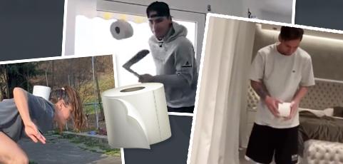 Hur många vågar haka på Toilet Paper Challange?
